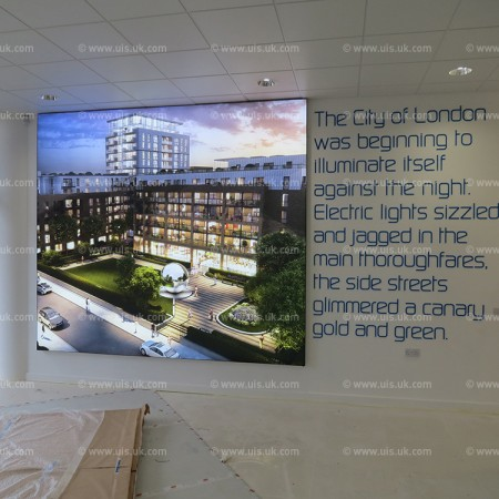 3300mm x 2900mm Backlit Tension Fabric Graphic