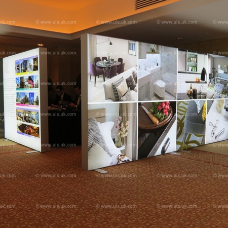 Free Standing Lightboxes for property development event