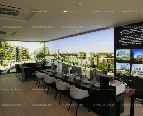 Property Development Showroom with Backlit Graphics